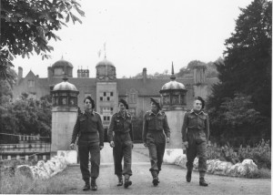 Reynold Lefebvre, Jean Paul LAVOIX, Christian et Guy Richard à Ribbesford