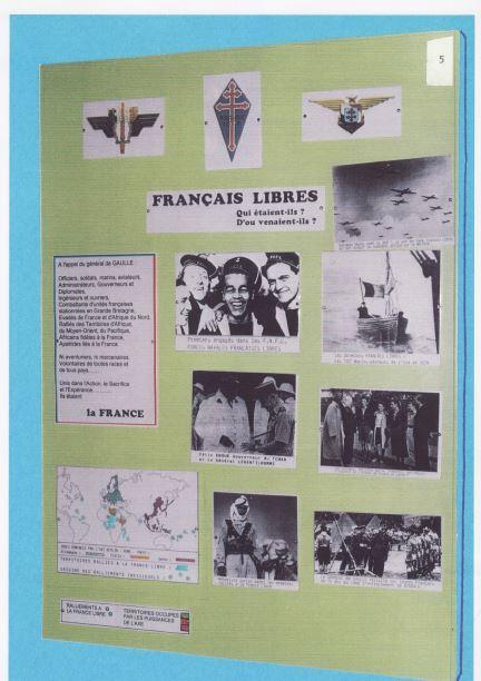 Au musée des blindés, une planche souvenir évoque la France libe et les images des cadets