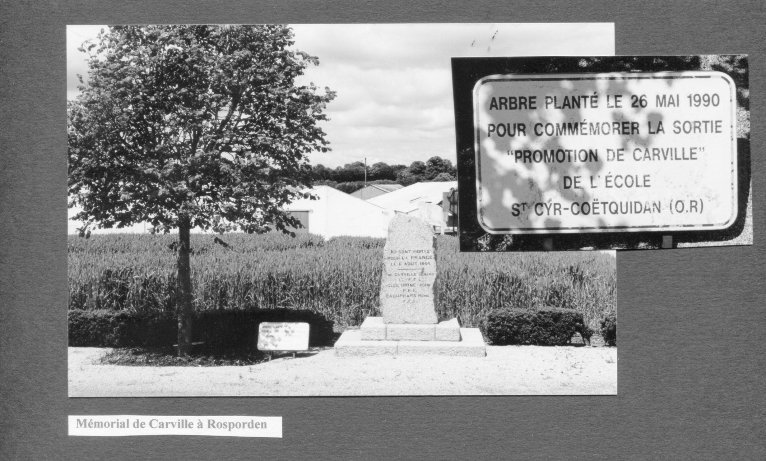 Outre le Monument, un arbre a été planté à la mémoire de la promotion qui porte son nom