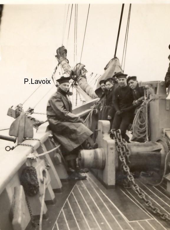 """1942 - Pierre Lavoix sur la """"Belle Poule"""""""