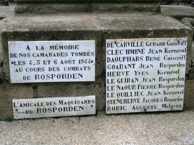 Gérard de Carville à Rospoden tombé en 1944