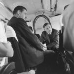 Pierre LEFRANC et le ministre Raymond Triboulet dans l'avion
