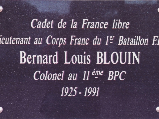 Bernard Blouin a dirigé le corp Franc des résistants durant l'année 1944
