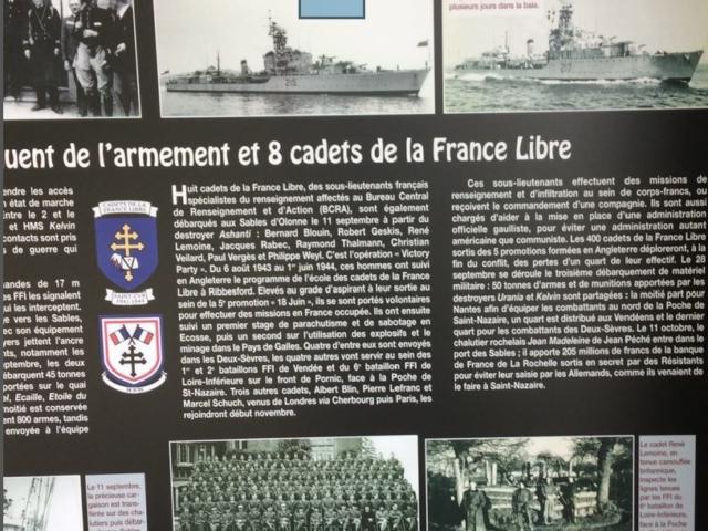 Un texte rappelle l'arrivée ets cadets et leur rôle dans l'encerclement de la poche de Saint-Nazaire