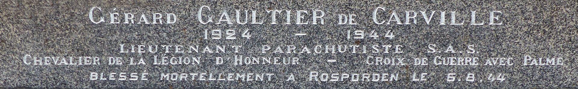 Gérard de Carville à Guiscriff